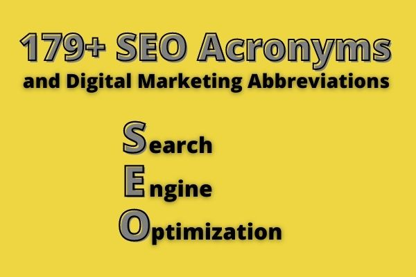Useful SEO Acronyms
