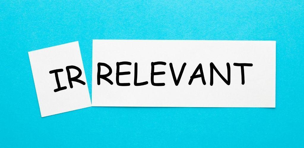 Irrelevancy won't help your website rank better