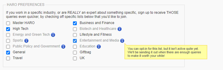 How to sign up for HARO alerts
