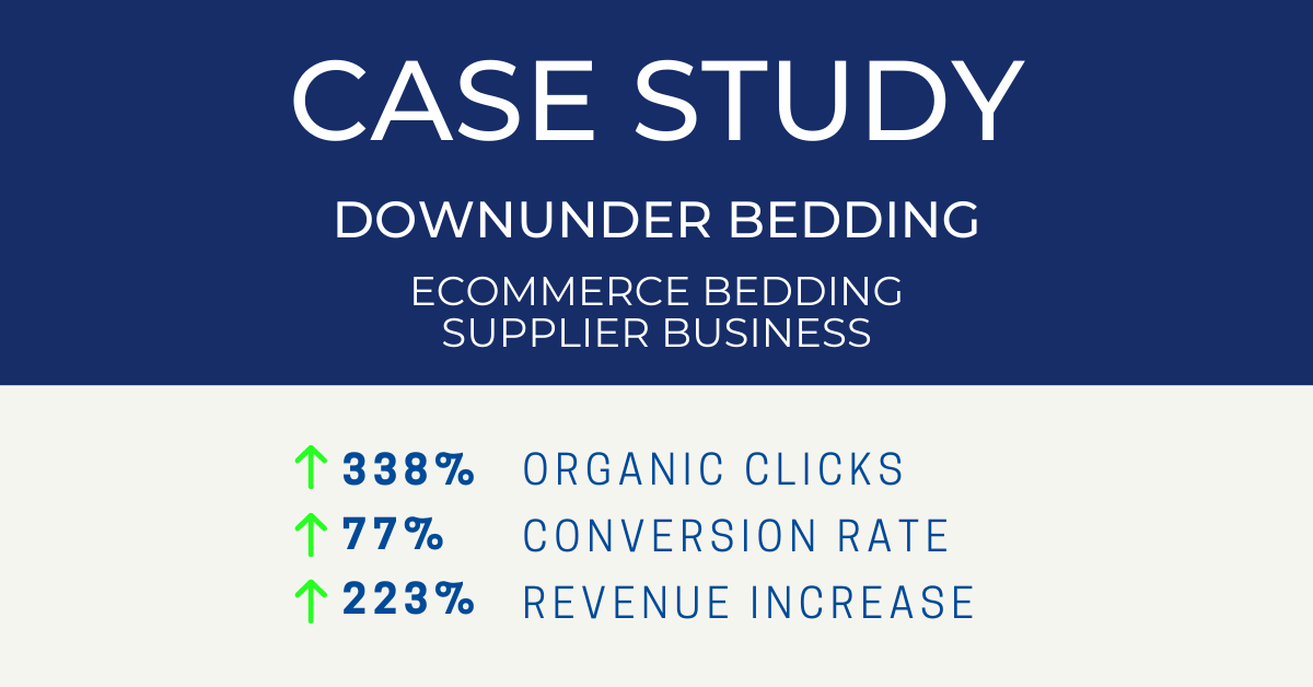 Down Under Bedding SEO Case Study for eCommerce Business